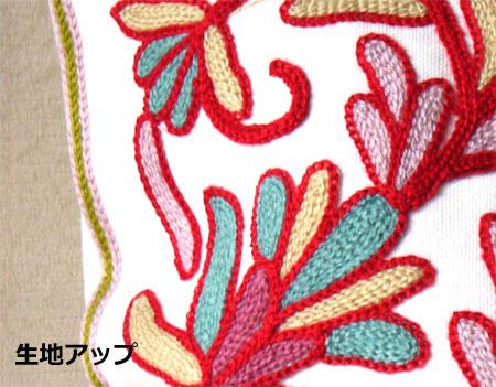 生地アップ 北欧風 SAM WELL デザイン 刺繍クッションカバー45×45