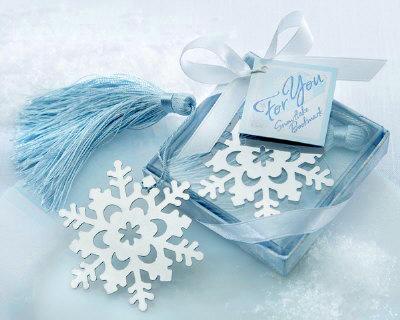 雪の結晶ブックマーク 冬のプチギフト